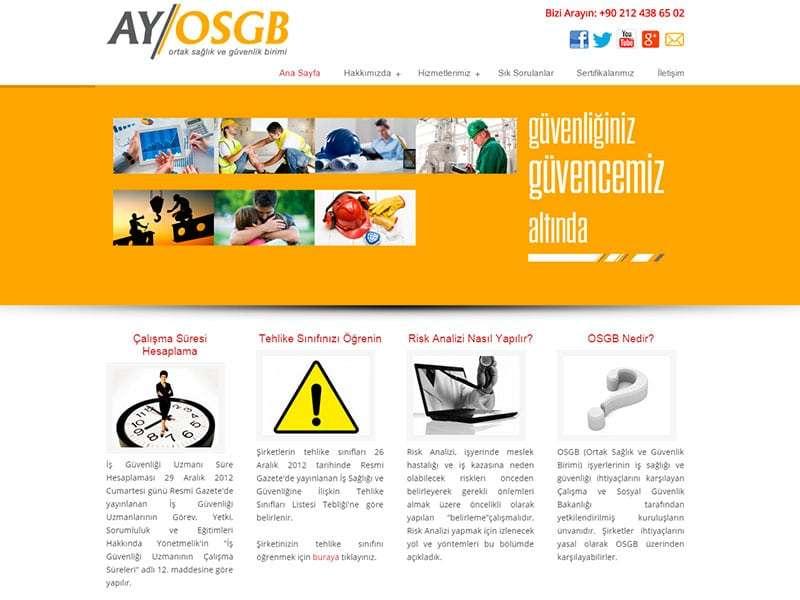 Ay OSGB Web Tasarım Projesi