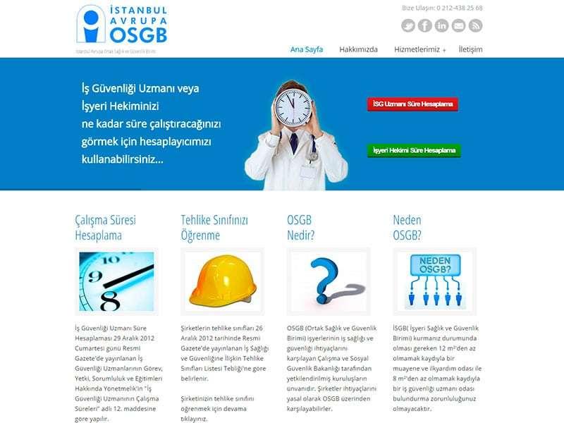 İstanbul Avrupa OSGB - Web Tasarım Projesi