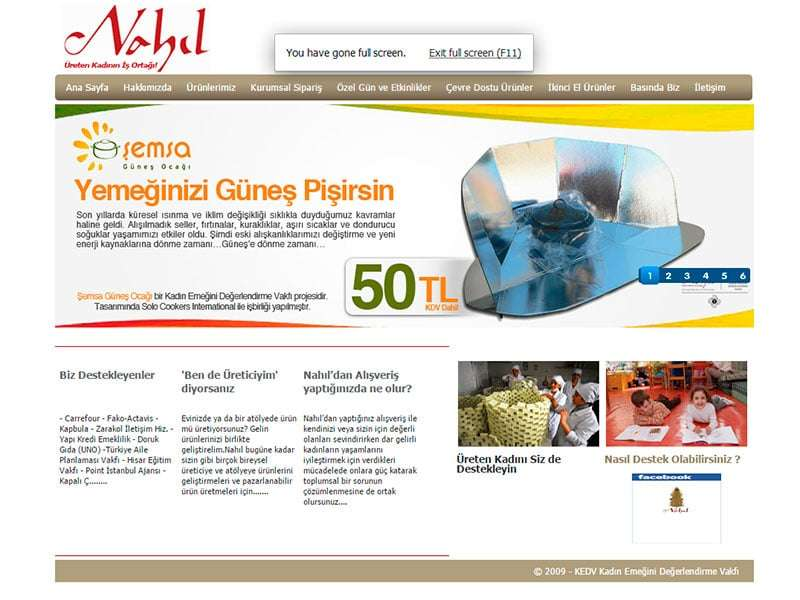 Nahıl - Web Tasarım Projesi