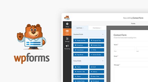 WpForms En iyi Ücretsiz WordPress Eklentisi